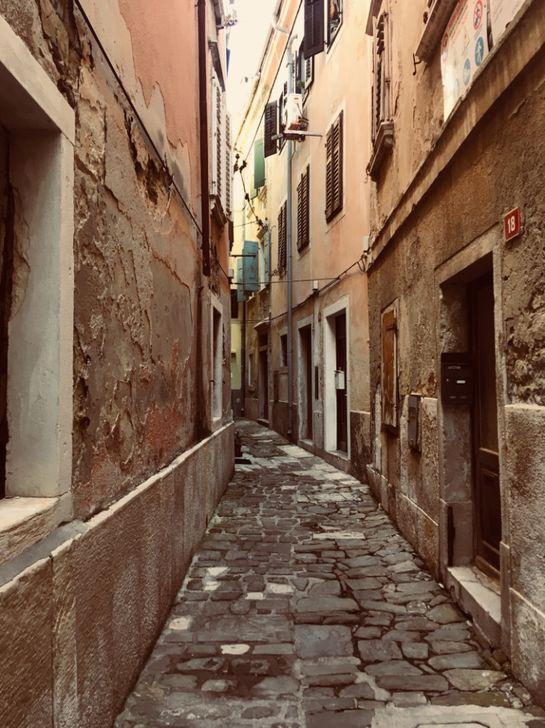 Óvárosi szűk utcák