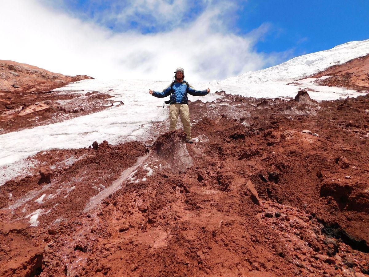 Cotopaxi, a gleccsernél