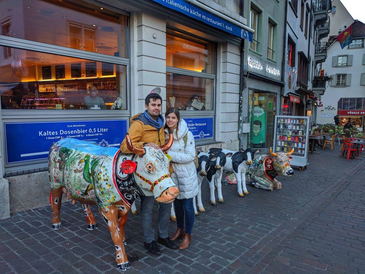 A tehenek már-már nemzeti állatok itt Svájcban