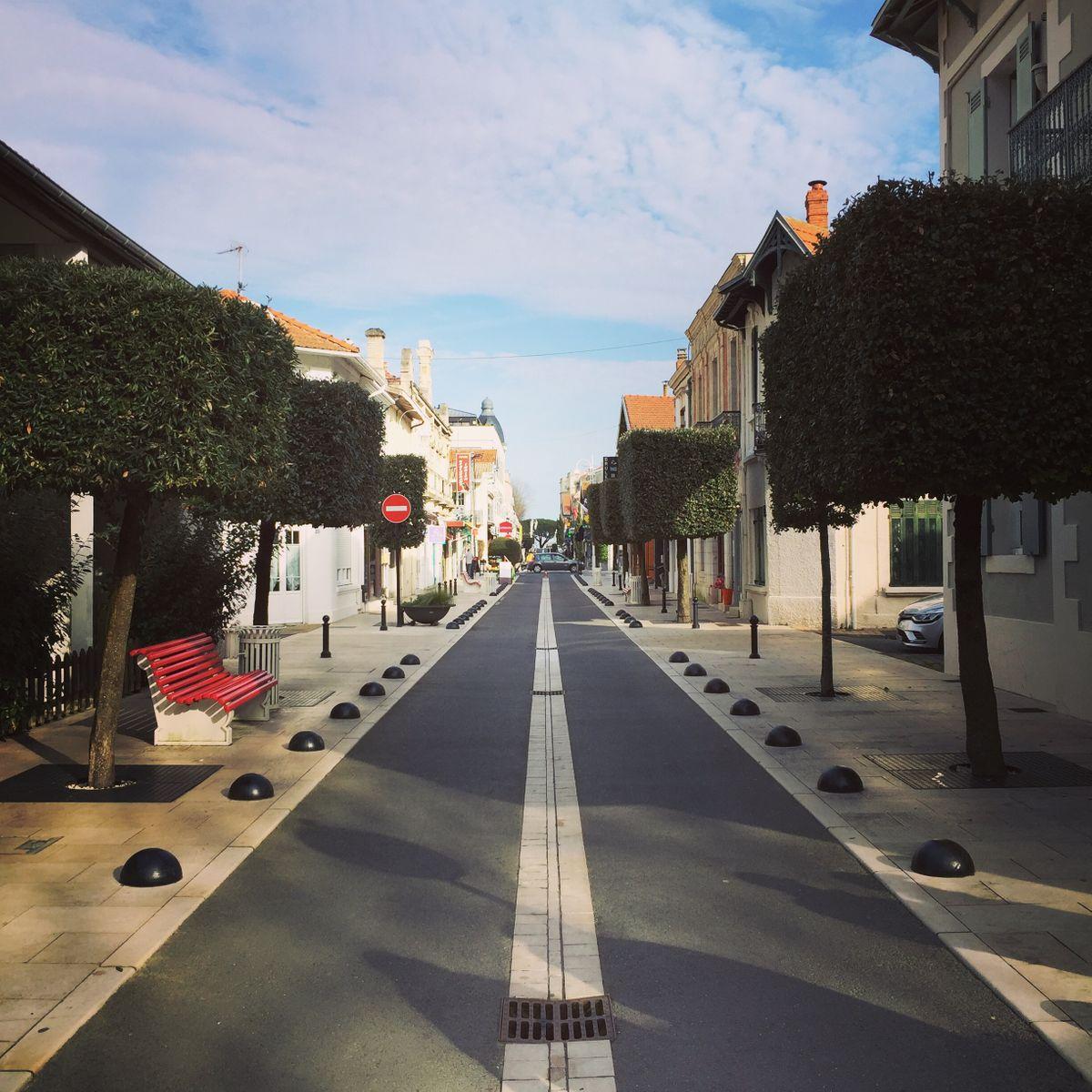 Arcachon-főutcája